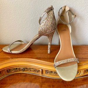 Strappy glittery heels